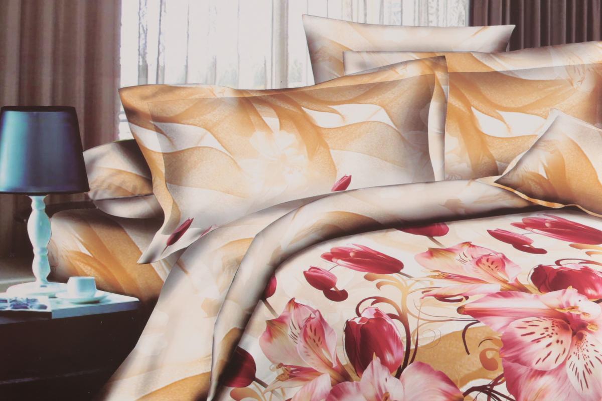 Комплект белья ЭГО Фантазия, евро, наволочки 70x70FD 992Комплект постельного белья ЭГО Фантазия выполнен из полисатина (50% хлопка, 50% полиэстера). Комплект состоит из пододеяльника, простыни и двух наволочек. Постельное белье, оформленное цветочным принтом, имеет изысканный внешний вид и яркую цветовую гамму. Наволочки застегиваются на клапаны. Гладкая структура делает ткань приятной на ощупь, мягкой и нежной, при этом она прочная и хорошо сохраняет форму. Ткань легко гладится, не линяет и не садится. Благодаря такому комплекту постельного белья вы сможете создать атмосферу роскоши и романтики в вашей спальне.