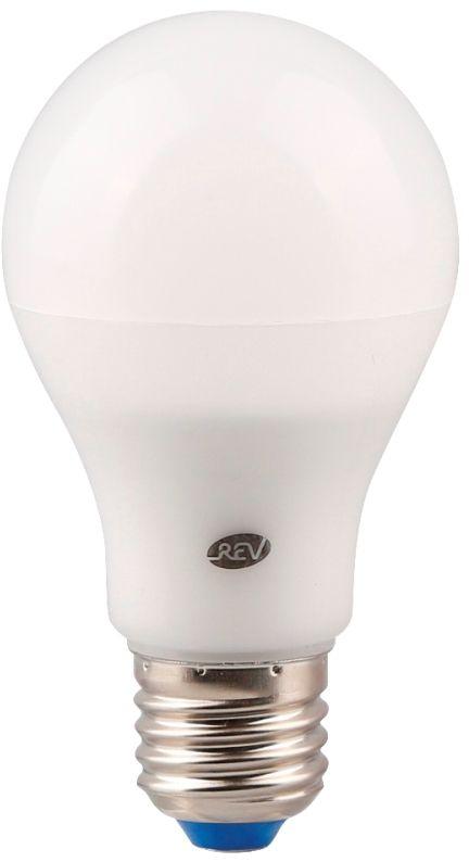 Лампа светодиодная REV, теплый свет, цоколь Е27, 7W, 2700 K. 32264 132264 1Энергосберегающая светодиодная лампа REV используется как в бытовых осветительных приборах, так и для освещения общественных и служебных помещений. Потребляемая мощность энергосберегающих ламп в 5-10 раз ниже, чем у обычных ламп накаливания при той же интенсивности свечения.Тип лампы: LED.Цоколь: Е27.Потребляемая мощность: 7 Вт.Световой поток: 560 Лм.Цветовая температура: 2700 K.Номинальное напряжение: 220-240 В.Свечение: теплый свет.Диаметр: 6 см.Высота: 11 см.Срок службы: 30000 часов.