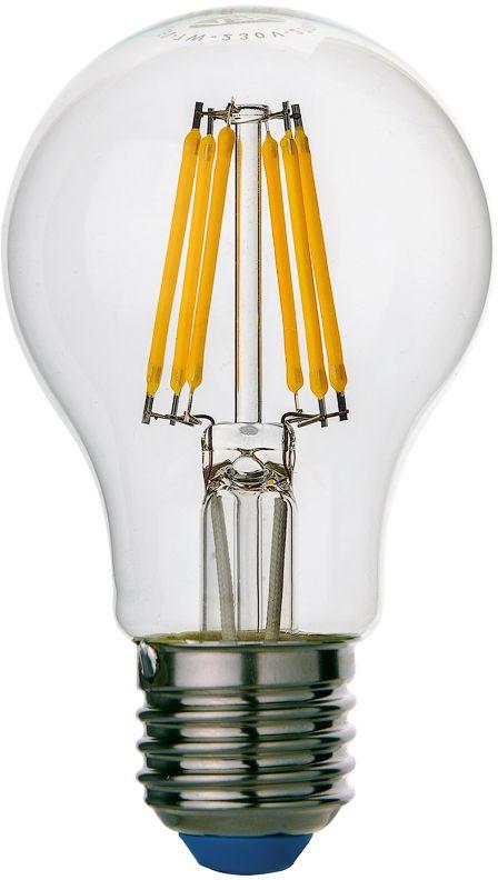 Лампа светодиодная REV Premium Filament, холодный свет, цоколь E27, 7W. 32354 9C0044702Энергосберегающая светодиодная лампа REV используется как в бытовых осветительных приборах, так и для освещения общественных и служебных помещений. Потребляемая мощность энергосберегающих ламп в 5-10 раз ниже, чем у обычных ламп накаливания при той же интенсивности свечения. Энергосберегающая светодиодная лампа грушевидной формы холодного свечения. Интенсивность свечения аналогична обычной лампе накаливания мощностью 75 Вт. Срок службы 30 000 часов. Номинальное напряжение 220-240 В.
