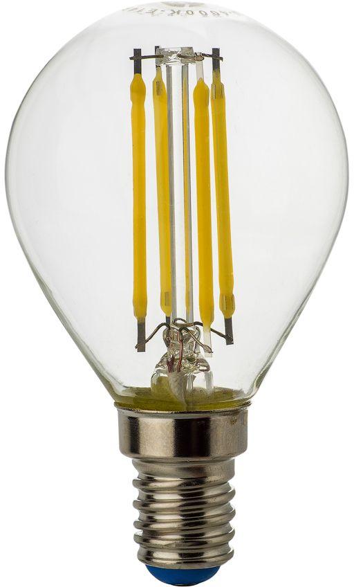 Лампа светодиодная REV Premium Filament, холодный свет, цоколь E14, 5W. 32358 7C0044702Энергосберегающая светодиодная лампа REV используется как в бытовых осветительных приборах, так и для освещения общественных и служебных помещений. Потребляемая мощность энергосберегающих ламп в 5-10 раз ниже, чем у обычных ламп накаливания при той же интенсивности свечения. Энергосберегающая светодиодная лампа шаровидной формы холодного свечения. Интенсивность свечения аналогична обычной лампе накаливания мощностью 45 Вт. Срок службы 30 000 часов. Номинальное напряжение 220-240 В.