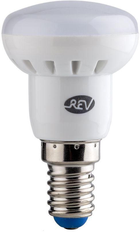 Лампа светодиодная REV, холодный свет, цоколь E14, 3W. 32362 432362 4Энергосберегающая светодиодная лампа REV используется как в бытовых осветительных приборах, так и для освещения общественных и служебных помещений. Потребляемая мощность энергосберегающих ламп в 5-10 раз ниже, чем у обычных ламп накаливания при той же интенсивности свечения. Энергосберегающая светодиодная лампа в форме R39 холодного свечения. Интенсивность свечения аналогична обычной лампе накаливания мощностью 25 Вт. Срок службы 30 000 часов. Номинальное напряжение 220-240 В.