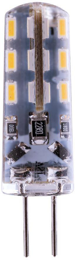 Лампа светодиодная REV, нейтральный свет, цоколь G4, 2WRSP-202SЭнергосберегающая светодиодная лампа в форме кукуруза.Потребляемая мощность: 2Вт.Интенсивность свечения аналогична обычной лампе накаливания мощностью 15Вт.Цоколь G4.Срок службы 300 00 часов.Световой поток: 140 Лм. Цветовая температура: 4000 К.Напряжение: 12В.Гарантия: 24 месяца.