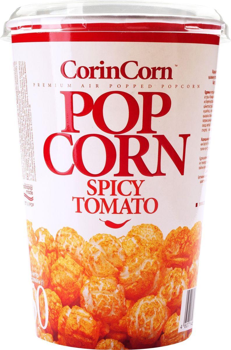 CorinCorn Жгучий Томат попкорн готовый, 50 г4607114690880Готовый попкорн CorinCorn не просто снек, это наполненные ароматом и вкусом кондитерские удовольствия. Для наибольшего удовольствия используйте попкорн CorinCorn перед телевизором.