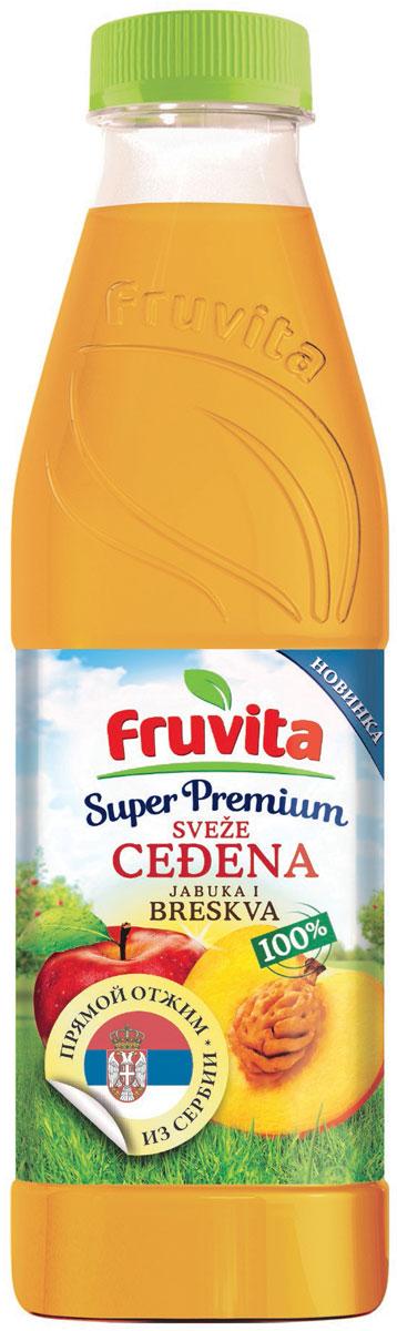 Fruvita Superpremium Из яблок и персиков фруктовый сок прямого отжима, 750 мл0120710Сок фруктовый прямого отжима из яблок и персиков Fruvita – 100% сок высшего качества! Fruvita – это один из самых современных отечественных заводов по переработке фруктов и производству фруктовых соков. Соки производятся в цехе Колари методом холодной экстракции. Сок производится без добавления сахара, консервантов, красителей, ароматизаторов, воды.
