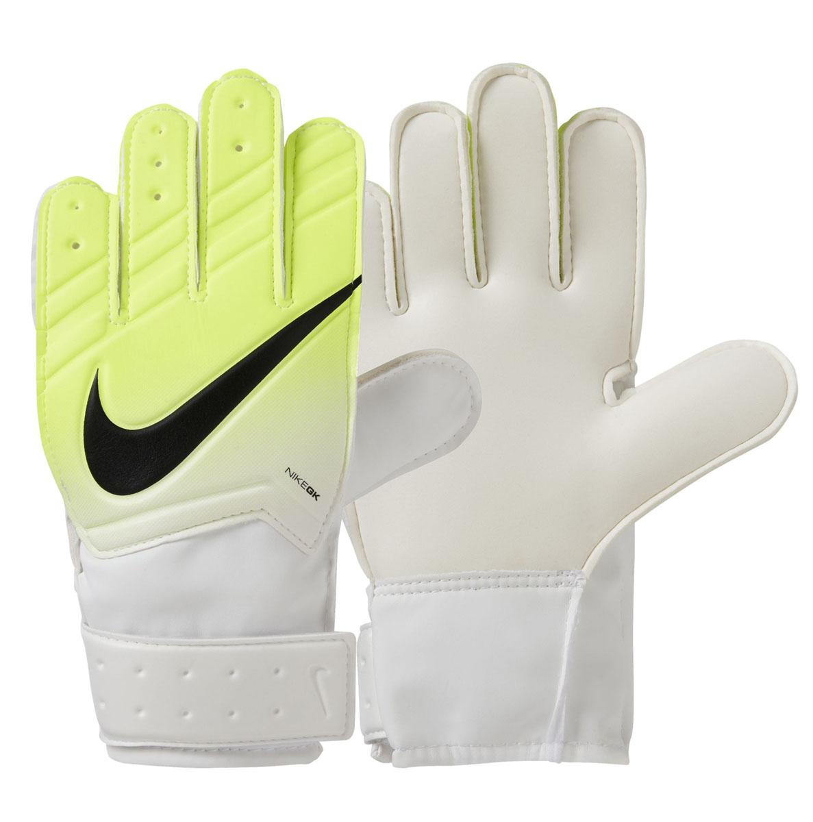 Перчатки вратарские Nike  Gk Jr Match Fa16 , цвет: желтый, белый, черный. Размер 5 - Футбол
