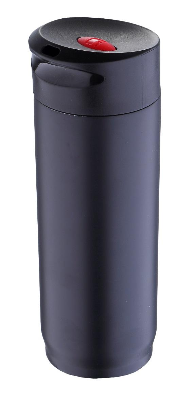 Термокружка Bergner, 400 мл. 5965 BK-BGVT-1520(SR)Термокружка Bergner BG-5965BK серии Travel пригодится вам как в дороге, так и на отдыхе. Термокружка емкостью 400 мл изготовлена из высококачественной нержавеющей стали. Оснащена плотной пластиковой крышкой и герметичным защитным клапаном, предохраняющим случайное проливание горячих напитков. Нескользящая резиновая вставка на дне надежно удерживает термокружку в вертикальном положении на любой гладкой поверхности.