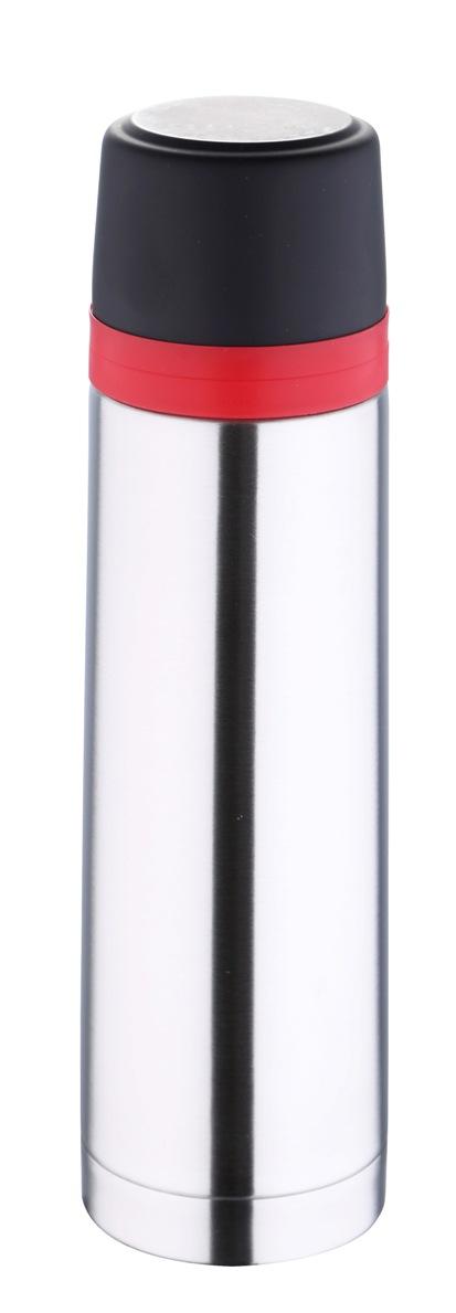 Термос Bergner, 500 мл. 5975 MM-BG115510Термос Bergner BG-5975MM серии Travel удобно использовать в любом путешествии. Объем термоса составляет 500 мл. Корпус изготовлен из высококачественной нержавеющей стали, которая позволяет долгое время сохранять напитки в горячем виде. Удобная пластиковая крышка герметично закрывает термос и хорошо сочетается по цвету с красным ободком на корпусе. Нескользящая резиновая вставка на дне надежно удерживает термос в вертикальном положении на любой гладкой поверхности.