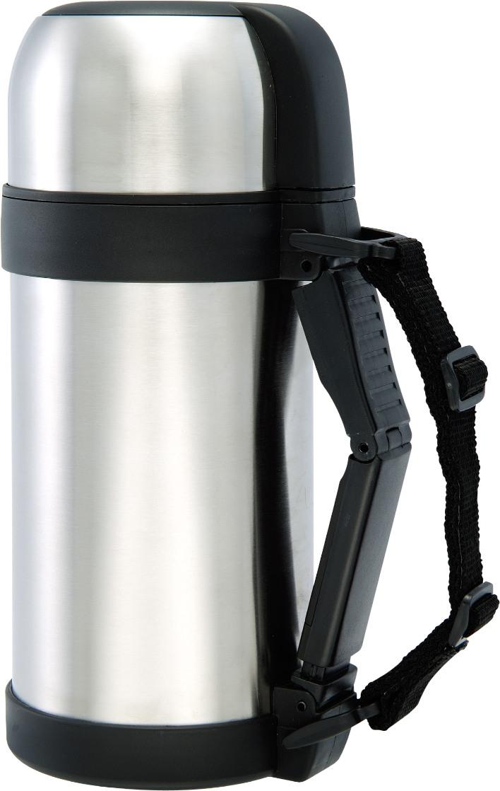 Термос Bergner, 1 л. 1487 BG21395599Пищевой термос Bergner BG-1487 для еды и напитков изготовлен из высококачественной нержавеющей стали. Удобная пластмассовая ручка со съемными ремешками. Широкое горло плотно закрывается пробкой. Крышка легко заменит чашку. Термос полностью герметичен и прост в использовании, что позволяет надолго сохранить вашу пищу горячей в дороге, на пикнике, на работе и т.д. Объем термоса составляет 1 литр.