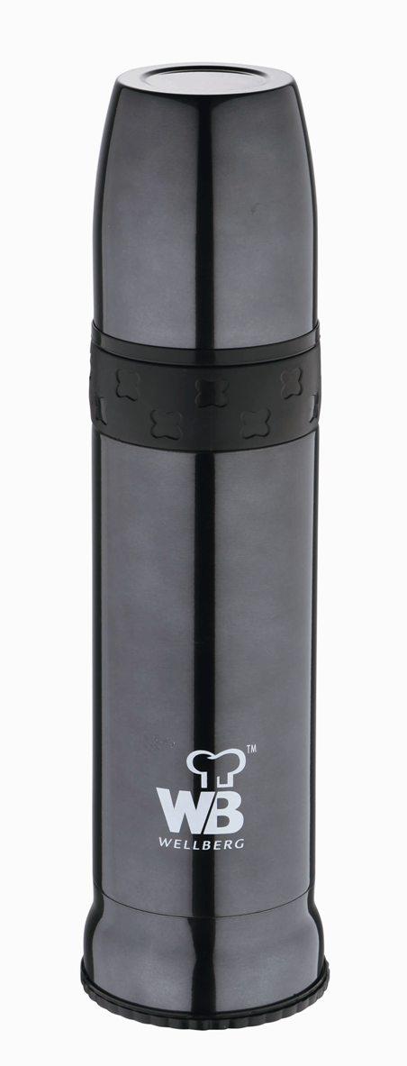 Термос многофункциональный Wellberg, 900 мл. 9481 WB107039Многофункциональный термос Wellberg WB-9481 пригодится на отдыхе, на работе или в длинном утомительном путешествии. Термос изготовлен из высококачественной нержавеющей стали. Стильный корпус цвета металлик имеет двойные стенки, за счет которых горячие и холодные напитки не меняют свою температуру в течение долгого времени. Пластиковая крышка термоса послужит отличной удобной кружкой для чая или кофе. Объем термоса составляет 900 мл.