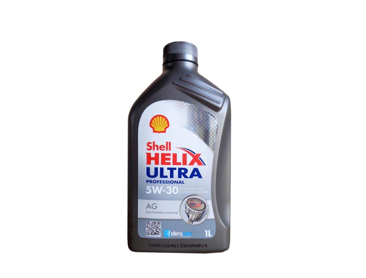 Моторное масло Shell Helix Ultra Professional AG 5w30 синтетика, 1 лS03301004Моторное маслоShell Helix Ultra Professional AG 5w30 на базе синтетических технологий, соответствующее самым строгим требованиям производителей современных силовых агрегатов для легковых авто. Марка AG 5W-30 одобрена к использованию концерном General Motors. Масло прошло различные испытания эксплуатационных качеств, показав превосходные моющие свойства, высокую эффективность, а также устойчивость к сдвиговым нагрузкам, окислению и испаряемости. Кроме того, жидкость обладает отличными низкотемпературными характеристиками, обеспечивает экономию топлива, способствует снижению уровня шума и вибрации в моторе. Продукт соответствует требованиям спецификаций ACEA C3, API SN и GM dexos2.