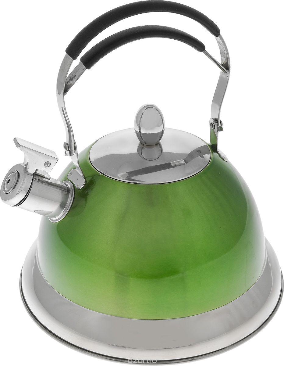 Чайник Mayer & Boch, со свистком, 3 л. 23204VT-1520(SR)Чайник Mayer & Boch выполнен из высококачественной нержавеющей стали, что делает его весьма гигиеничным и устойчивым к износу при длительном использовании. Носик чайника оснащен насадкой-свистком, что позволит вам контролировать процесс подогрева или кипячения воды. Подвижная ручка с силиконовой насадкой дает дополнительное удобство при разлитии напитка. Поверхность чайника гладкая, что облегчает уход за ним. Эстетичный и функциональный, с эксклюзивным дизайном, чайник будет оригинально смотреться в любом интерьере.Подходит для всех типов плит, включая индукционные. Можно мыть в посудомоечной машине.Высота чайника (без учета ручки и крышки): 13 см.Высота чайника (с учетом ручки и крышки): 28 см.Диаметр чайника (по верхнему краю): 10 см.