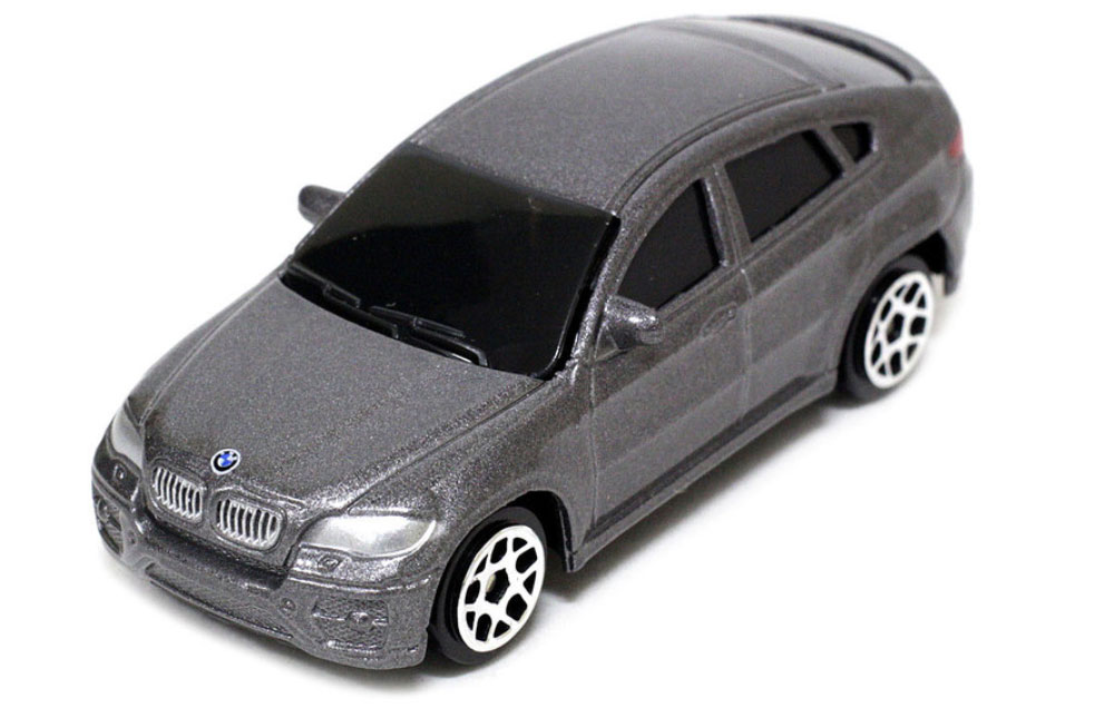 Pitstop Модель автомобиля BMW X6 цвет серый масштаб 1:64