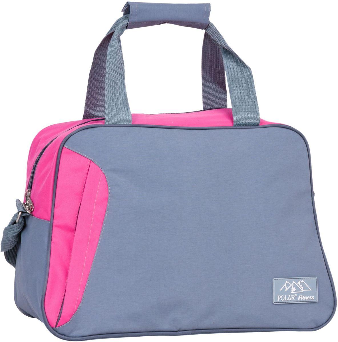 Сумка спортивная Polar, цвет: серый, розовый, 30 л. П7071BM8434-58AEСпортивная сумка Polar выполнена из полиэстера. Сумка имеет одно основное отделение с жестким дном. Внутри один открытый карман и карман на молнии. Спереди карман на молнии, открывается сбоку. В комплекте съемный плечевой ремень.