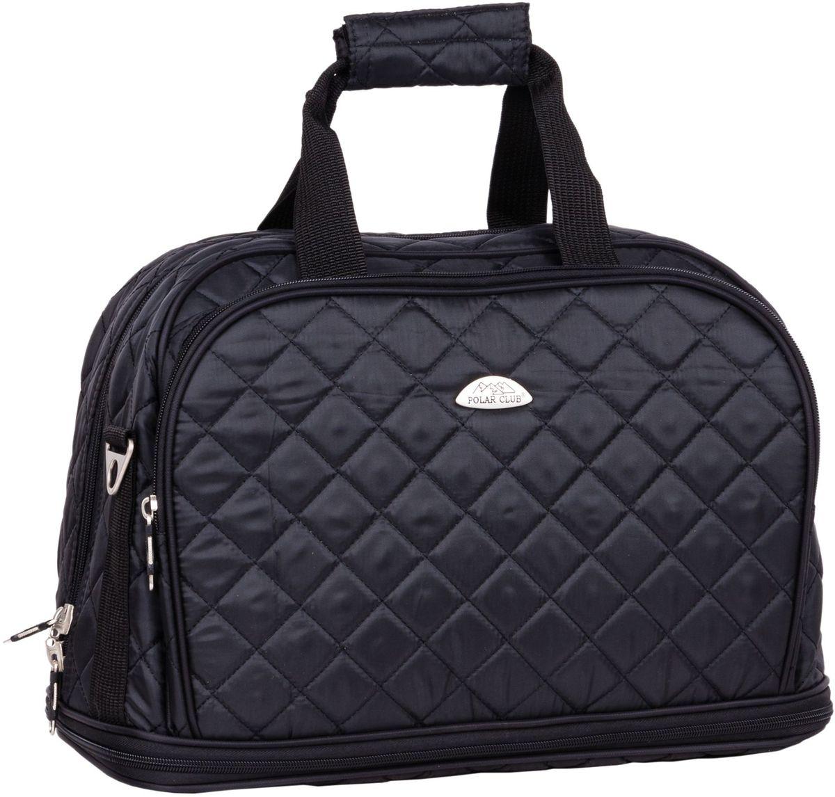 Сумка дорожная Polar  Стежка , цвет: черный, 29 л. П7079 - Дорожные сумки