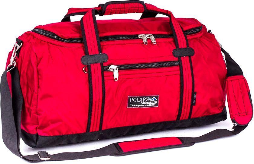 Сумка спортивная Polar, цвет: красный, 29 л. П809В-01П809В-01Спортивная сумка Polar выполнена из полиэстера с водоотталкивающим покрытием. Сумка имеет одно большое отделение. На лицевой стороне и сбоку расположены дополнительные карманы на молниях. Изделие оснащено двумя удобными текстильными ручками и съемным плечевым ремнем.