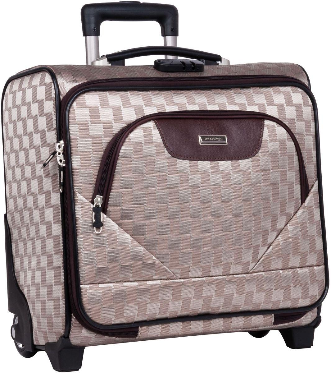 Чемодан-пилот Polar, цвет: золотой, 32,5 л, 40 х 43 х 19 см. П7076332515-2800Новый Модный кейс-Пилот на надежных колесах с подшипниками и прочной выдвижной тележкой подойдет как ручная кладь во все Авиакомпании (в том числе Лоукостеры) и поездку в командировку. Наши чемоданы отлично подходят для перевозки хрупких вещей. Пластик отлично защищает внутреннее содержание от любых внешних воздействий. Выдвижная металлическая ручка, выдвигается на 62 см. Внутренняя тележка. Внутри: фиксаторы зажимы для Ваших вещей. Также предусмотрен кодовый замок. Эта универсальная модель идеально подойдет для краткосрочных командировок и позволит вам взять с собой, помимо ноутбука, еще и все самые необходимые для Вас вещи