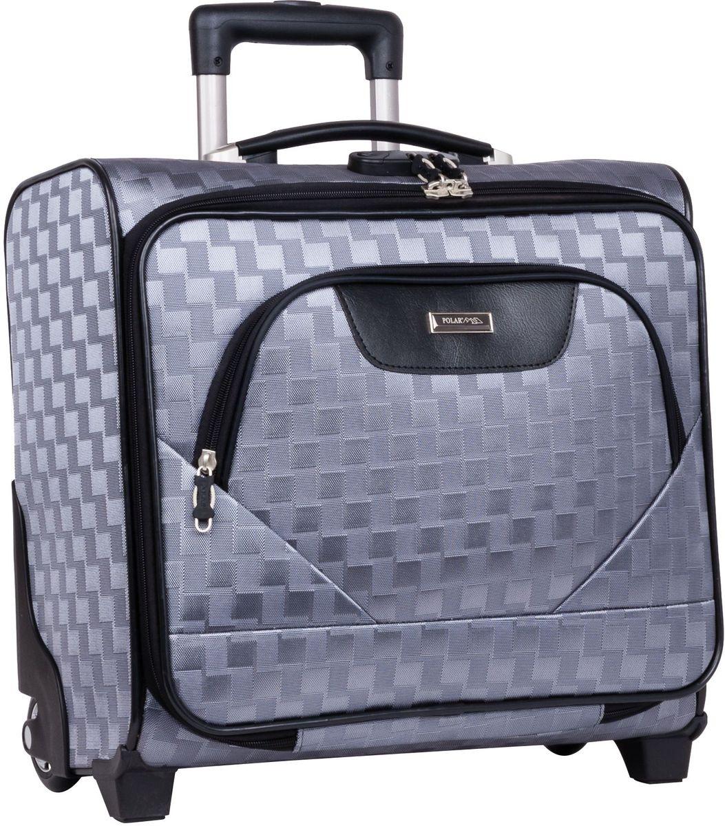 Чемодан-пилот Polar, цвет: серый, 32,5 л, 40 х 43 х 19 см. П7076ГризлиНовый Модный кейс-Пилот на надежных колесах с подшипниками и прочной выдвижной тележкой подойдет как ручная кладь во все Авиакомпании (в том числе Лоукостеры) и поездку в командировку. Наши чемоданы отлично подходят для перевозки хрупких вещей. Пластик отлично защищает внутреннее содержание от любых внешних воздействий. Выдвижная металлическая ручка, выдвигается на 62 см. Внутренняя тележка. Внутри: фиксаторы зажимы для Ваших вещей. Также предусмотрен кодовый замок. Эта универсальная модель идеально подойдет для краткосрочных командировок и позволит вам взять с собой, помимо ноутбука, еще и все самые необходимые для Вас вещи