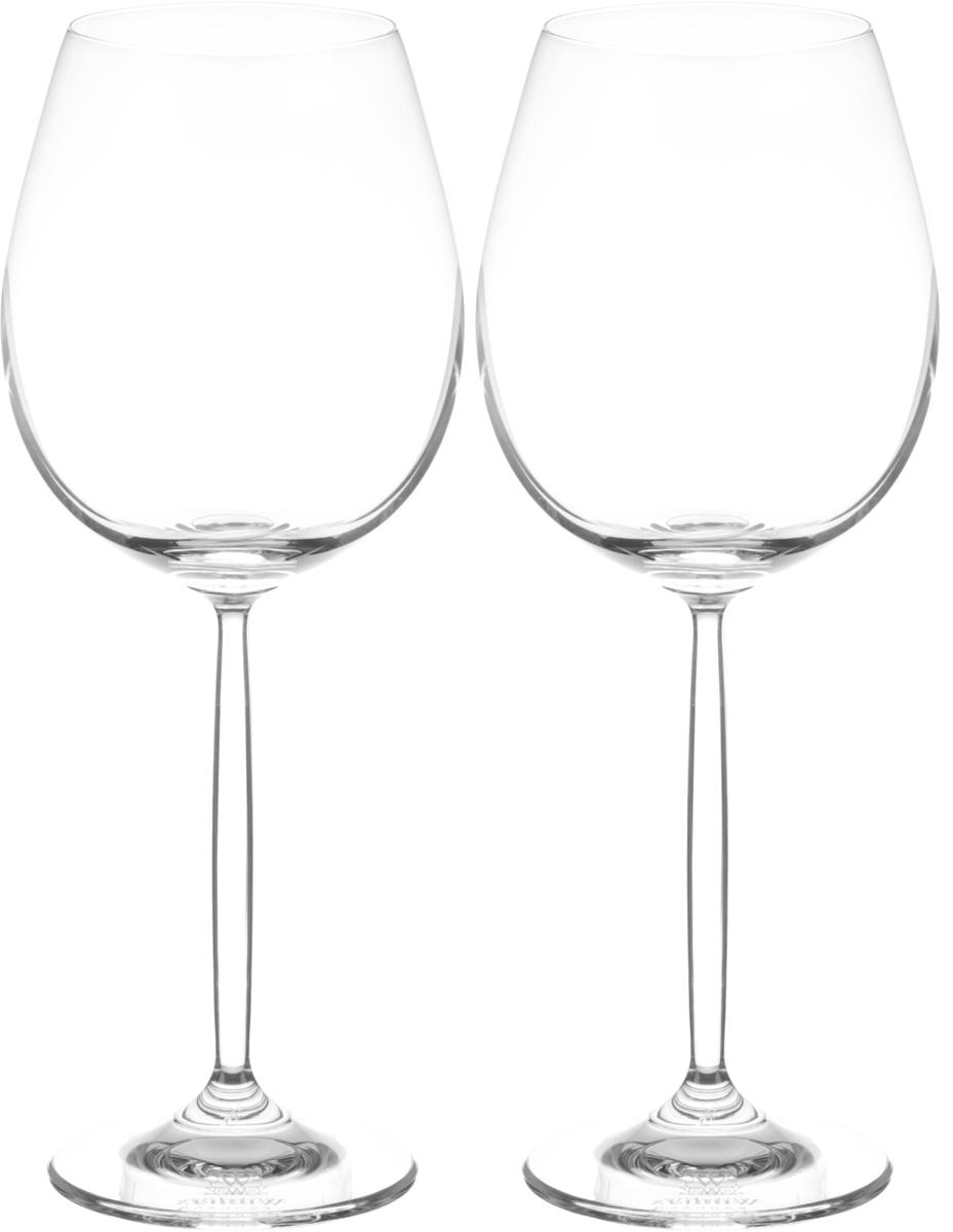 Набор бокалов для вина Wilmax, 480 мл, 2 штVT-1520(SR)Набор Wilmax состоит из двух бокалов, выполненных из стекла. Изделия оснащены высокими ножками и предназначены для подачи вина. Они сочетают в себе элегантный дизайн и функциональность. Набор бокалов Wilmax прекрасно оформит праздничный стол и создаст приятную атмосферу за романтическим ужином. Такой набор также станет хорошим подарком к любому случаю. Бокалы можно мыть в посудомоечной машине.Диаметр бокала по верхнему краю: 6,5 см.Диаметр основания: 7.Высота бокала: 23 см.