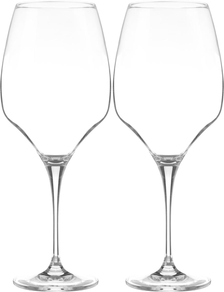 Набор бокалов для вина Wilmax, 800 мл, 2 штVT-1520(SR)Набор Wilmax состоит из двух бокалов, выполненных из стекла. Изделия оснащены высокими ножками и предназначены для подачи вина. Они сочетают в себе элегантный дизайн и функциональность. Набор бокалов Wilmax прекрасно оформит праздничный стол и создаст приятную атмосферу за романтическим ужином. Такой набор также станет хорошим подарком к любому случаю. Бокалы можно мыть в посудомоечной машине.Диаметр бокала по верхнему краю: 6,8 см.Диаметр основания: 8,3 см.Высота бокала: 27 см.