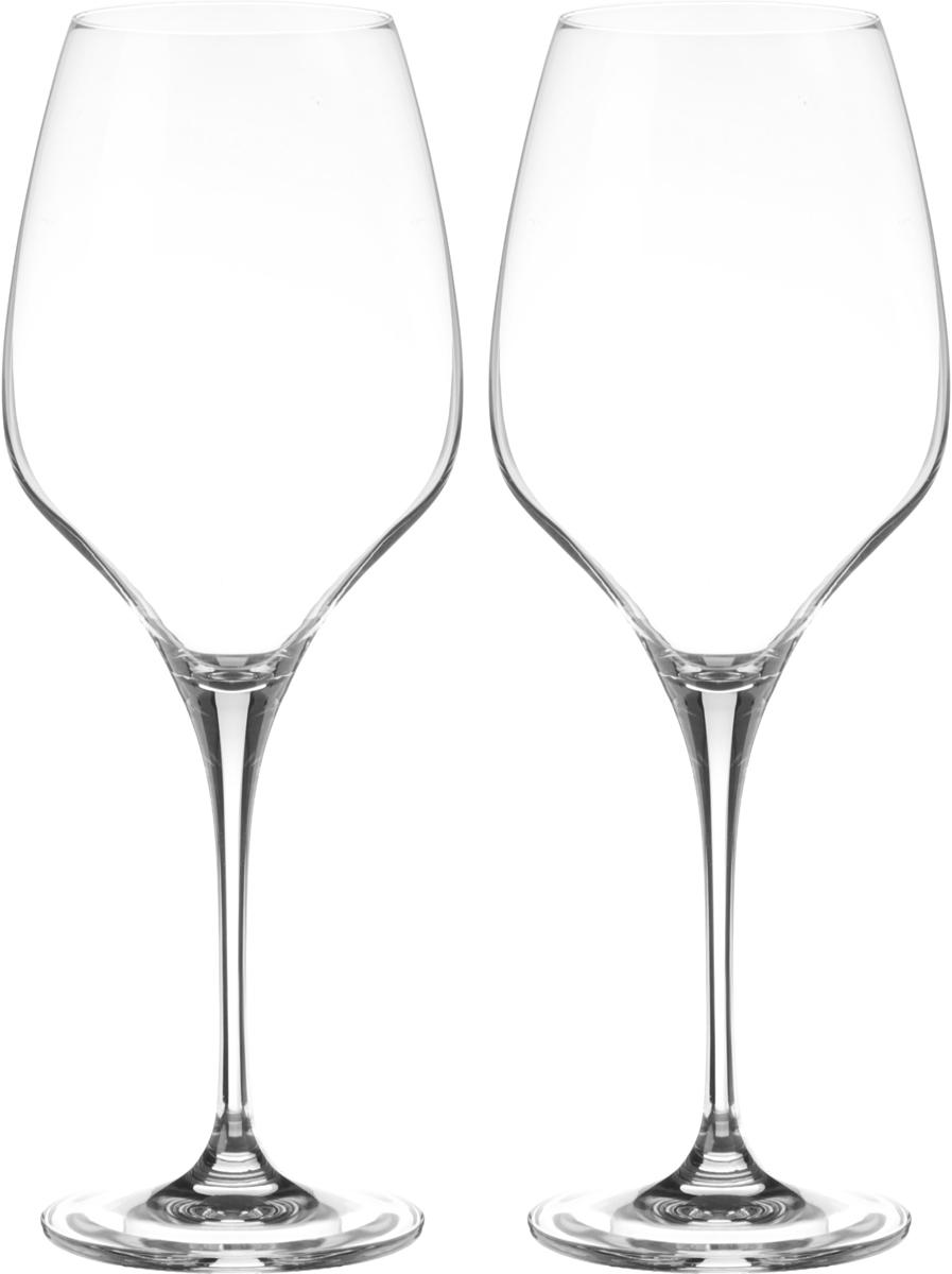Набор бокалов для вина Wilmax, 660 мл, 2 штVT-1520(SR)Набор Wilmax состоит из двух бокалов, выполненных из прочного стекла. Изделия оснащены высокими ножками и предназначены для подачи вина. Они сочетают в себе элегантный дизайн и функциональность. Набор бокалов Wilmax прекрасно оформит праздничный стол и создаст приятную атмосферу за романтическим ужином. Такой набор также станет хорошим подарком к любому случаю. Бокалы можно мыть в посудомоечной машине.Диаметр бокала по верхнему краю: 6,5 см.Диаметр основания: 8,3 см.Высота бокала: 26 см.