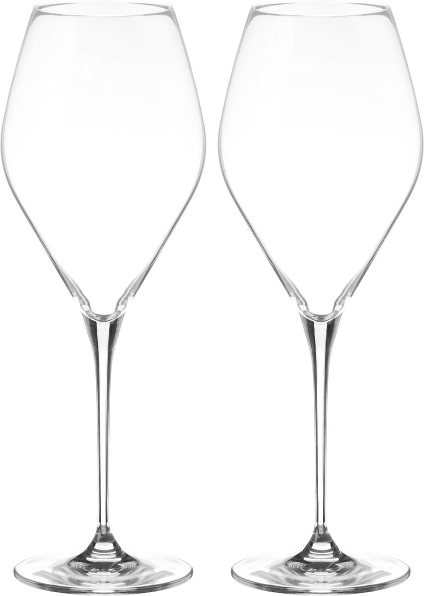 Набор бокалов для вина Wilmax, 700 мл, 2 шт4630003364517Набор Wilmax состоит из двух бокалов, выполненных из стекла. Изделия оснащены высокими ножками и предназначены для подачи вина. Они сочетают в себе элегантный дизайн и функциональность. Набор бокалов Wilmax прекрасно оформит праздничный стол и создаст приятную атмосферу за романтическим ужином. Такой набор также станет хорошим подарком к любому случаю. Бокалы можно мыть в посудомоечной машине.Диаметр бокала по верхнему краю: 7 см.Диаметр основания: 8,5 см.Высота бокала: 27,5 см.