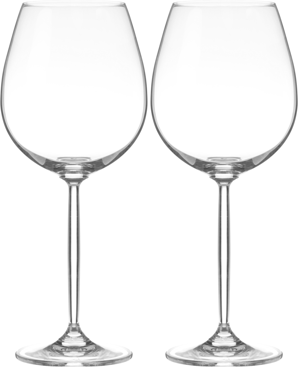 Набор бокалов для вина Wilmax, 630 мл, 2 штVT-1520(SR)Набор Wilmax состоит из двух бокалов, выполненных из стекла. Изделия оснащены высокими ножками и предназначены для подачи вина. Они сочетают в себе элегантный дизайн и функциональность. Набор бокалов Wilmax прекрасно оформит праздничный стол и создаст приятную атмосферу за романтическим ужином. Такой набор также станет хорошим подарком к любому случаю. Бокалы можно мыть в посудомоечной машине.Диаметр бокала по верхнему краю: 6,5 см.Диаметр основания: 8 см.Высота бокала: 24,5 см.