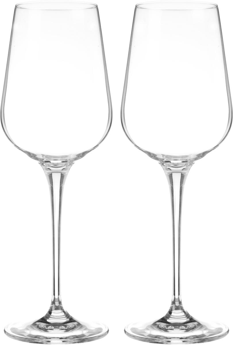 Набор бокалов для вина Wilmax, 430 мл, 2 шт2007178UНабор Wilmax состоит из двух бокалов, выполненных из прочного стекла. Изделия оснащены высокими ножками и предназначены для подачи вина. Они сочетают в себе элегантный дизайн и функциональность. Набор бокалов Wilmax прекрасно оформит праздничный стол и создаст приятную атмосферу за романтическим ужином. Такой набор также станет хорошим подарком к любому случаю. Бокалы можно мыть в посудомоечной машине.Диаметр бокала по верхнему краю: 5,8 см.Диаметр основания: 8 см.Высота бокала: 24,5 см.