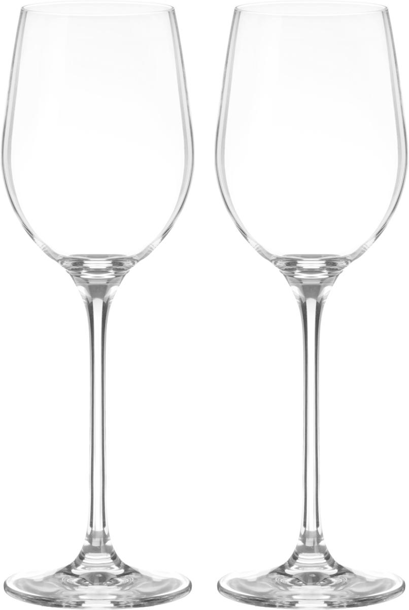 Набор бокалов для вина Wilmax, 400 мл, 2 штVT-1520(SR)Набор Wilmax состоит из двух бокалов, выполненных из стекла. Изделия оснащены высокими ножками и предназначены для подачи вина. Они сочетают в себе элегантный дизайн и функциональность. Набор бокалов Wilmax прекрасно оформит праздничный стол и создаст приятную атмосферу за романтическим ужином. Такой набор также станет хорошим подарком к любому случаю. Бокалы можно мыть в посудомоечной машине.Диаметр бокала по верхнему краю: 6,5 см.Диаметр основания: 7,5 см.Высота бокала: 24,5 см.