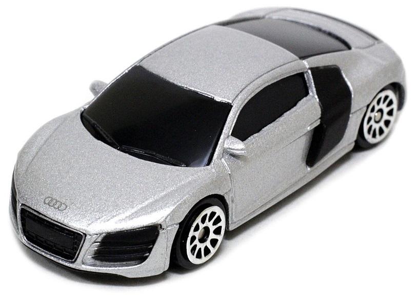 Pitstop Модель автомобиля Audi R8 V10 цвет серый welly модель автомобиля audi r8 v10