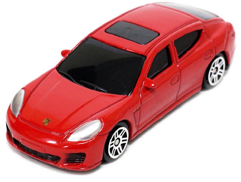Pitstop Модель автомобиля Porsche Panamera Turbo цвет красный масштаб 1:64