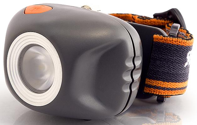 Фонарь налобный Яркий Луч, цвет: серый, оранжевый. LH-2704606400105602Фонарь Яркий Луч - это надежный, долговечный и мощный в работе осветительный прибор, который предназначен для крепления на голове. Изделие имеет: - Мощный светодиод CREE XP-G3 nw 270 люмен.- Прочный, герметичный и влагозащищенный корпус (IP65), алюминиевое кольцо вокруг линзы.- Два режима работы: 25% и 100%.Работает от 3 батареек ААА (в комплект не входят).