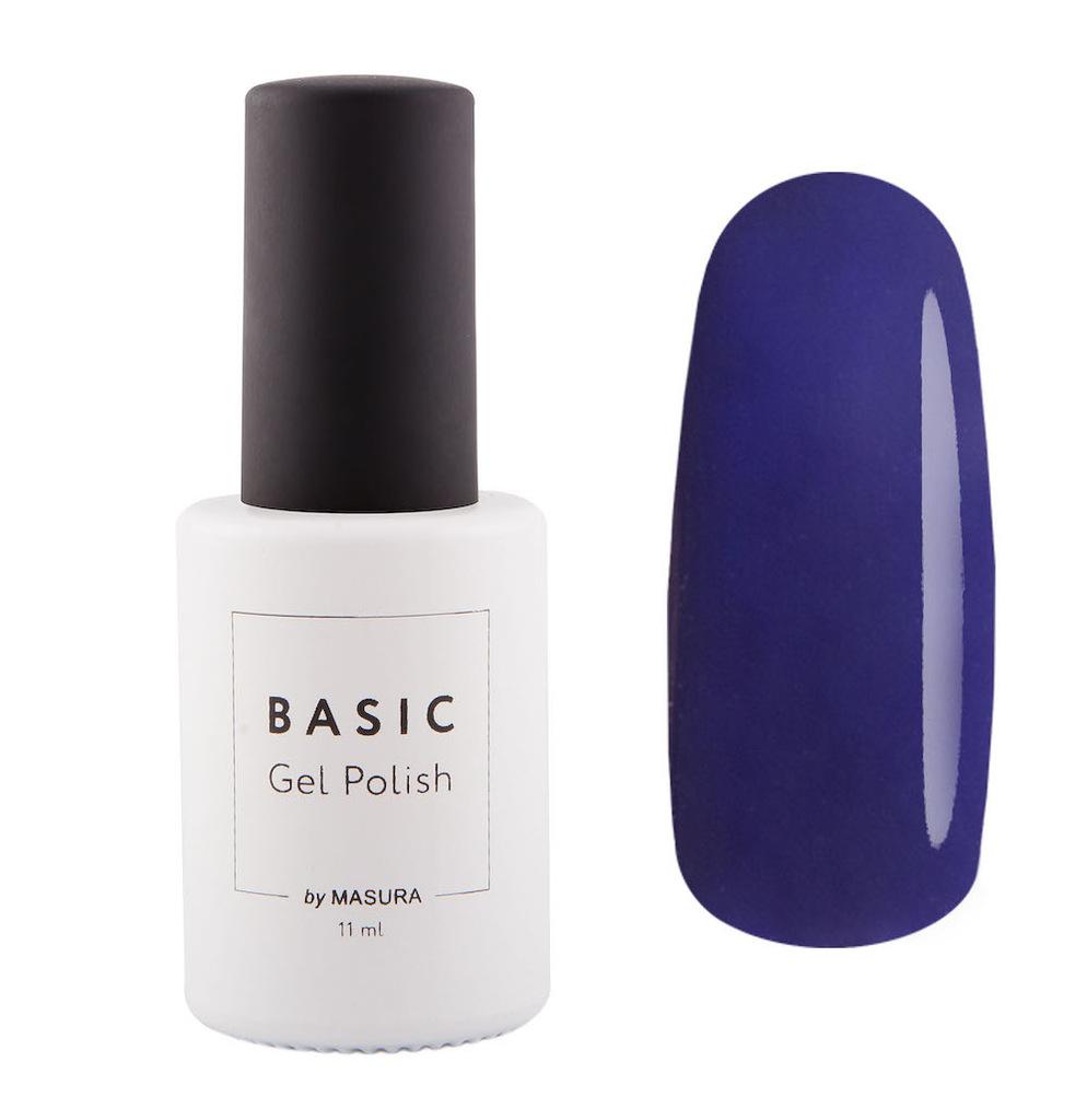 Masura Гель-лак BASIC Черная Смородина, 11 млУТ000000909черно-смородиновый цвет с синим подтоном, плотный