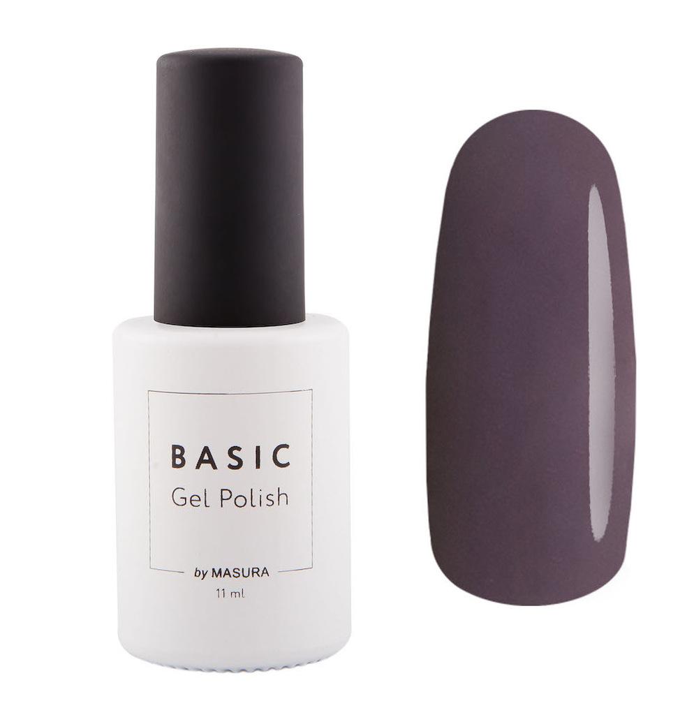 Masura Гель-лак BASIC 99% Какао, 11 млSC-FM20104коричневый темный, цвет горького шоколада, плотный