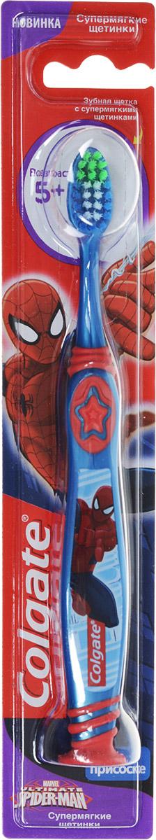 Colgate Зубная щетка Spider-man, детская, цвет синий, красный, с мягкой щетиной62125_фиолетовыйColgate Зубная щетка Spider-man, детская, цвет синий, красный, с мягкой щетиной