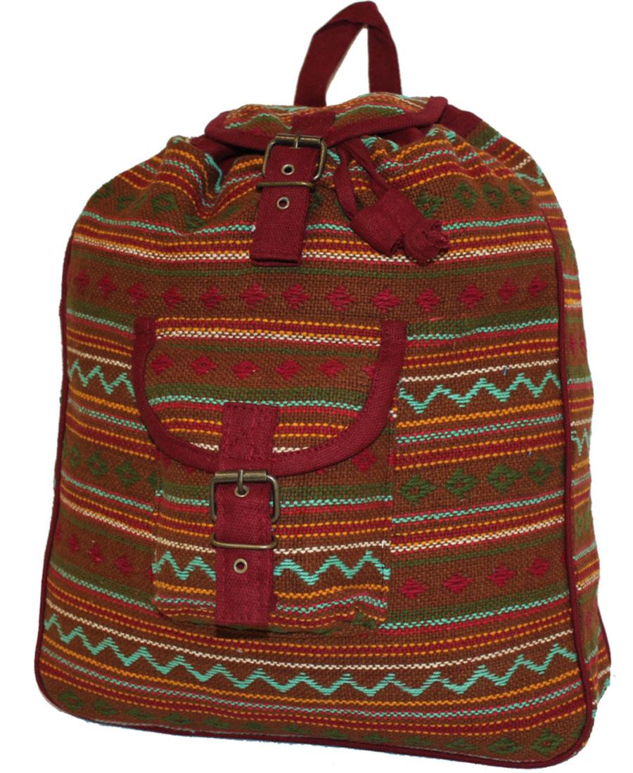 Сумка-рюкзак женская Ethnica, цвет: горчичный. 187250BM8434-58AEЖенская сумка-рюкзак Ethnica изготовлена из качественного текстиля. Сумка имеет одно вместительное отделение и застегивается на металлическую пряжку. Внутри имеется основное отделение.Спереди сумка-рюкзак дополнена накладным карманом с клапаном.Сумка оснащена ручкой для переноски и двумя наплечными ремнями.