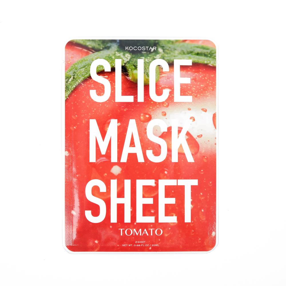 Kocostar Маска-слайс для лица Томат, 20 мл / Slice Mask Sheet (Tomato)FS-00897Оригинальная и очень эффективная маска в виде сочных тонких ломтиков томата обладает успокаивающим эффектом и подходит для всех типов кожи. Важно отметить, что маску-слайс можно применять на разных участках лица и тела. Сразу после использования кожа интенсивно увлажнена и становится более мягкой, заметно уменьшаются раздражения на коже. Экстракт томата содержит высокую концентрацию витамина С, В и микроэлементов, которые активно питают кожу, способствуя ее регенерации. Гиалуроновая кислота в составе маски обеспечивает глубокое увлажнение и повышает упругость.