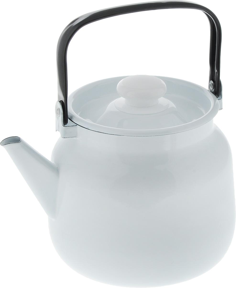Чайник Лысьвенские эмали, цвет: белый, 3,5 лVT-1520(SR)Чайник Лысьвенские эмали изготовлен из высококачественной стали с эмалированным покрытием. Эмалевое покрытие, являясь стекольной массой, не вызывает аллергию и надежно защищает пищу от контакта с металлом. Кроме того, такое покрытие долговечно, оно устойчиво к механическому воздействию, не царапается и не сходит, а стальная основа практически не подвержена механической деформации, благодаря чему срок эксплуатации увеличивается. Чайник снабжен стальной крышкой с пластиковой ручкой. Такая ручка убережет ваши руки от контакта с высокими температурами.Подходит для всех типов плит, включая индукционные. Можно мыть в посудомоечной машине.Высота чайника (без учета крышки и ручки): 16,5 см.Диаметр чайника (по верхнему краю): 15 см.