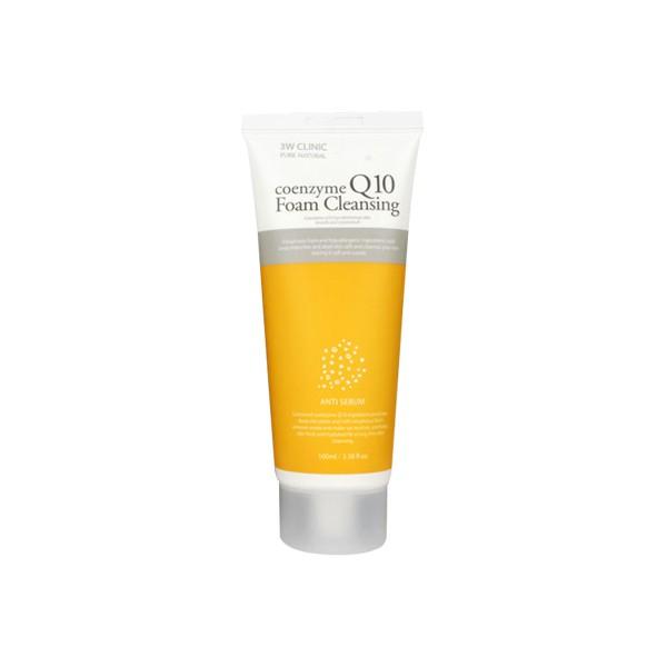 3W Clinic Пенка для умывания Coenzyme Q10 Foam Cleansing, 100 млA9260200Нежная пенка для умывания на основе натуральных экстрактов, не сушит и не стягивает кожу. Очищает даже самый стойкий макияж, в том числе и BB крем. Коэнзим Q10 -«эликсир молодости» организма. Антиоксидант, который участвует в окислительно-восстановительных реакциях в организме, восстанавливает антиоксидантную активность витамина Е. Отлично подойдет для сухой и зрелой кожи.
