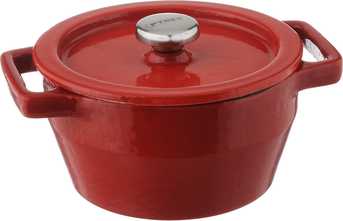 Мини-кастрюля Pyrex Slowcook, с крышкой, 0,2 лС-1621РбМини-кастрюля Pyrex Slowcook выполнена из высококачественного чугуна с глазурованным покрытием. В такой кастрюле удобно порционно запекать пищу, например, жульен, мясо и овощи, рыбу, а также выпекать мини-суфле, запеканки или десерты. Может использоваться для подачи соусов и приправ. Приготовленное блюдо можно не выкладывать из мини-кастрюли, а подавать на стол прямо в ней. Изделие оснащено крышкой с металлической ручкой. Выдерживает температуру до +280°C. Подходит для использования на всех типах плит, кроме индукционных. Можно использовать в духовом шкафу и на галогеновой конфорке, и мыть в посудомоечной машине. Ширина мини-кастрюли (с учетом ручек): 13 см. Высота стенок: 5 см. Диаметр мини-кастрюли (по верхнему краю): 10 см.