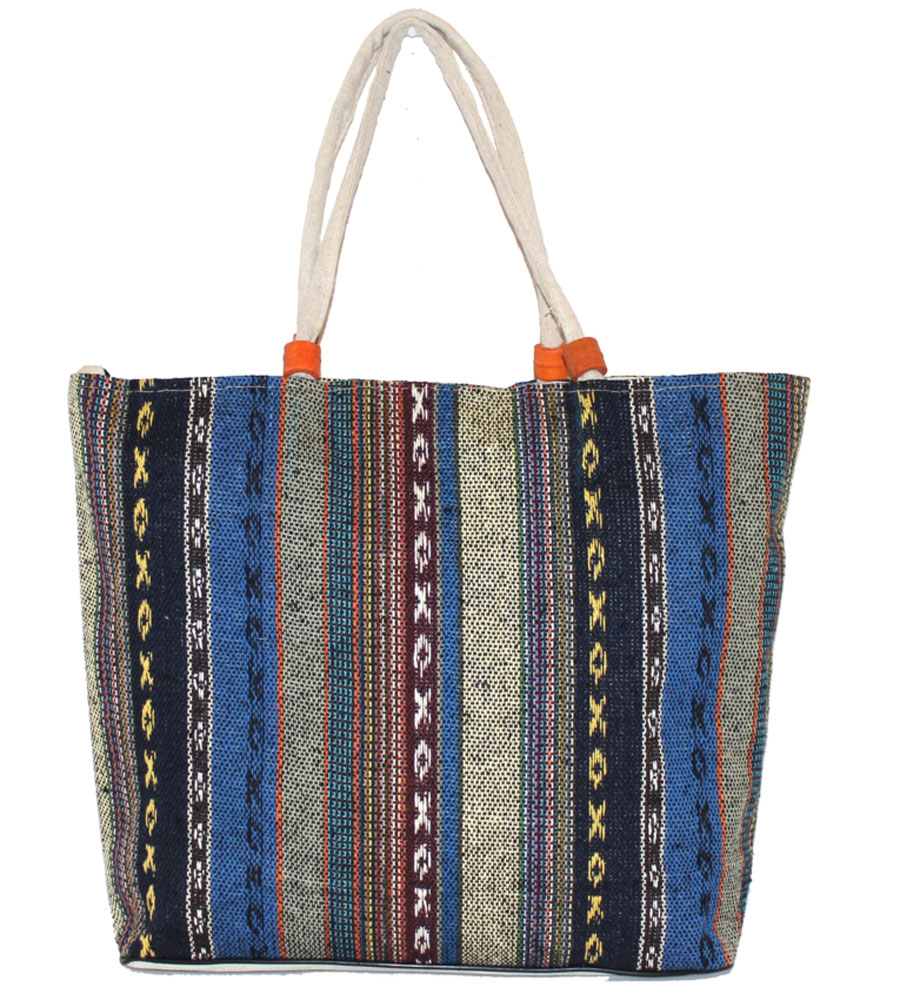 Сумка женская Ethnica, цвет: синий, мультиколор. 205090A-B86-05-CЖенская сумка Ethnica изготовлена из текстиля. Дополнена модель прочными удобными ручками и украшена тонкой вышивкой. Застегивается изделие на застежку-молнию.