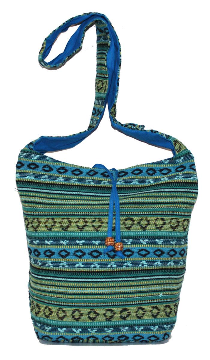 Сумка женская Ethnica, цвет: зеленый, мультиколор. 2061653-47670-00504Женская сумка Ethnica изготовлена из текстиля. Дополнена модель широкой удобной лямкой и украшена тонкой вышивкой. Застегивается изделие на застежку-молнию.