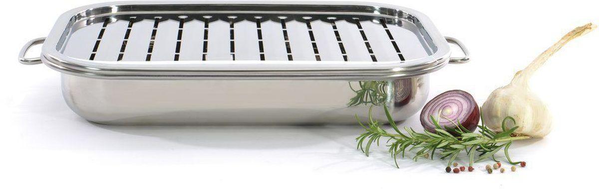 Жаровня BergHOFF Studio, 40 см. 110432454 009312Жаровня BergHOFF Studio изготовлена из нержавеющей стали. Благодаря специальным сплавам с антипригарным покрытием и выверенному дизайну, тепло распределяется равномерно, а выпечка готовится быстро и не пригорает.Особенности:Зеркальная полировка внутри и снаружиТермостойкие ручки из нержавеющей сталиИдеально подходит для приготовления лазаньи, зажаривания и запеканияПодходит для посудомоечной машины