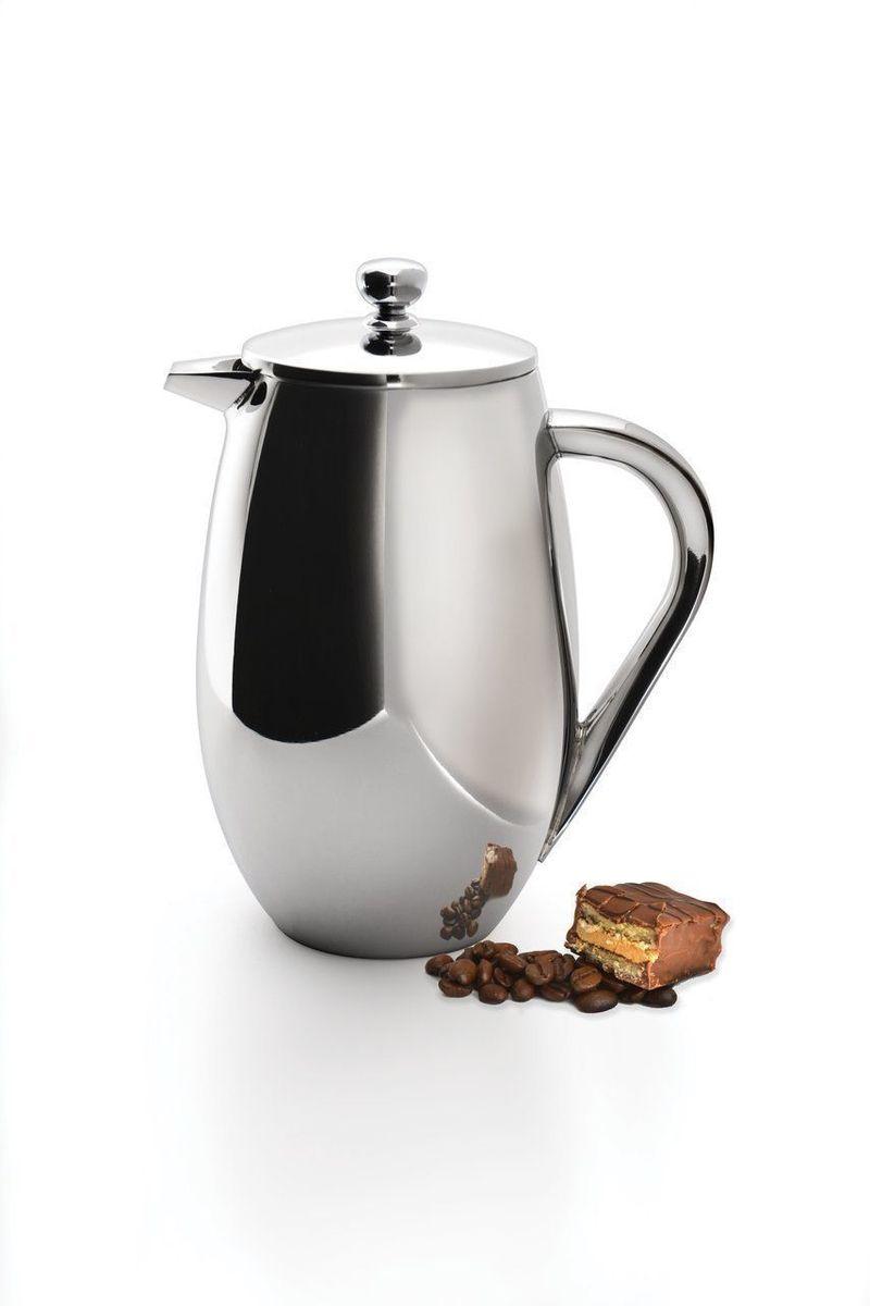 Френч-пресс для кофе и чая BergHOFF Studio, с двойной стенкой, 1 л23508Френч-пресс для кофе и чая BergHOFF Studio выполнен из нержавеющей стали 18/10. Отлично подходит для заваривания любых сортов кофе, без проблем справится с любым помолом. Помимо кофе, во френч-прессе можно заварить чай и травяные настои. Изолирующий слой создается двумя стенками из нержавеющей стали, таким образом, кофе и чай дольше остаются горячими. Наружная сторона не нагревается. Благодаря удобному носику напитки легко наливать. Тонкий сетчатый фильтр из нержавеющей стали сохраняет заварку внутри пресса, не позволяя ей попасть в чашку. Подходит для использования в посудомоечной машине. Объем: 1 л. Диаметр (по верхнему краю): 9,5 см. Высота (без учета крышки): 19 см.