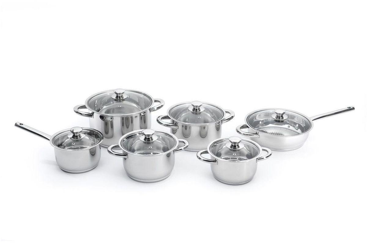 Набор посуды BergHOFF Studio, 12 предметов. 111209554 009312Набор посуды BergHOFF Studio - изготовлен из высококачественной нержавеющей стали, что способствует быстрому и равномерному распределению тепла, а также позволяет сократить расход энергии при приготовлении пищи. Нержавеющая сталь имеет высокие показатели экологической чистоты, что позволяет в процессе приготовления пищи максимально сохранить витамины и минеральные вещества в продуктах.Корпус: нержавеющая сталь. Зеркальная полировка. Ручки из нержавеющей стали. Стеклянная крышка с отверстием для выхода пара. Уникальное 4-слойное дно для быстрого и экономичного приготовления.Подходит для всех типов плит. Подходит для посудомоечной машины.
