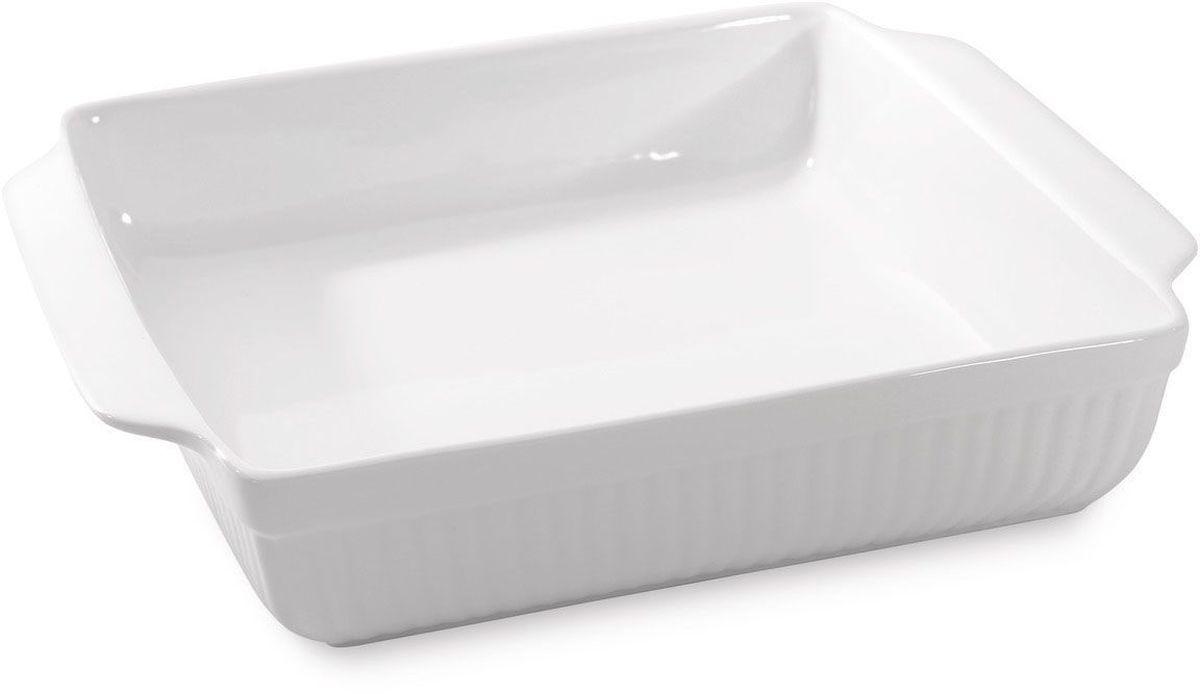Блюдо для запекания BergHOFF Bianco, прямоугольное, цвет: белый, 24,5 х 20,5 х 6 см391602Блюдо для выпечки BergHOFF Bianco изготовлено из фарфора, что обеспечивает оптимальное распределение тепла. Оно может быть использовано, как для запекания различных блюд, так и для их подачи на стол.Блюдо станет отличным дополнением к кухонному инвентарю, а также украсит сервировку стола.Подходит для использования в СВЧ и духовом шкафу. Можно мыть в посудомоечной машине.