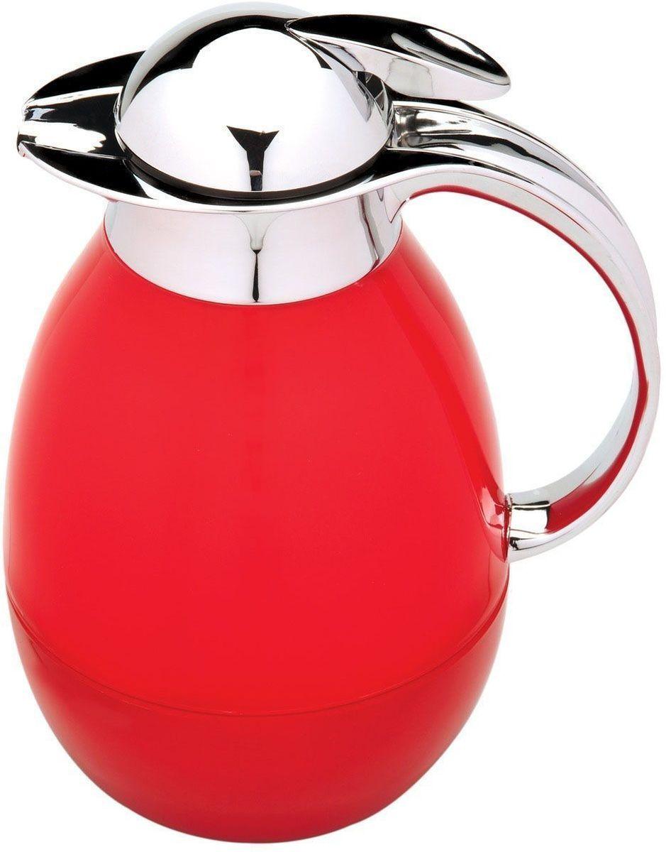 Tермос BergHOFF Cook&Co, цвет: красный, 1 л115510Термос BergHOFF Cook&Co сохранит любимые напитки горячими в течение долгого времени. Корпус термоса выполнен из пластика, а колба - из стекла. Термос снабжен крышкой с дозатором, что позволяет выливать жидкость, не отвинчивая крышки. Корпус термоса оснащен удобным носиком, а с эргономичной ручкой вам будет удобно держать термос в руке. Высота: 25,5 см.Диаметр основания: 10 см.