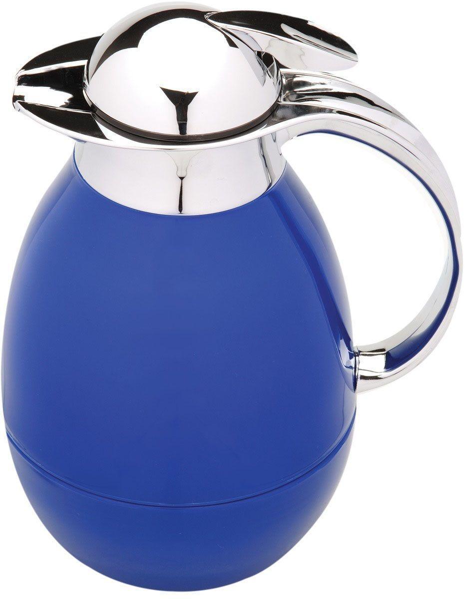 Tермос BergHOFF Cook&Co, цвет: голубой, 1 л115510Термос BergHOFF Cook&Co сохранит любимые напитки горячими в течение долгого времени. Корпус термоса выполнен из пластика, а колба - из стекла. Термос снабжен крышкой с дозатором, что позволяет выливать жидкость, не отвинчивая крышки. Корпус термоса оснащен удобным носиком, а с эргономичной ручкой вам будет удобно держать термос в руке. Высота: 25,5 см.Диаметр основания: 10 см.