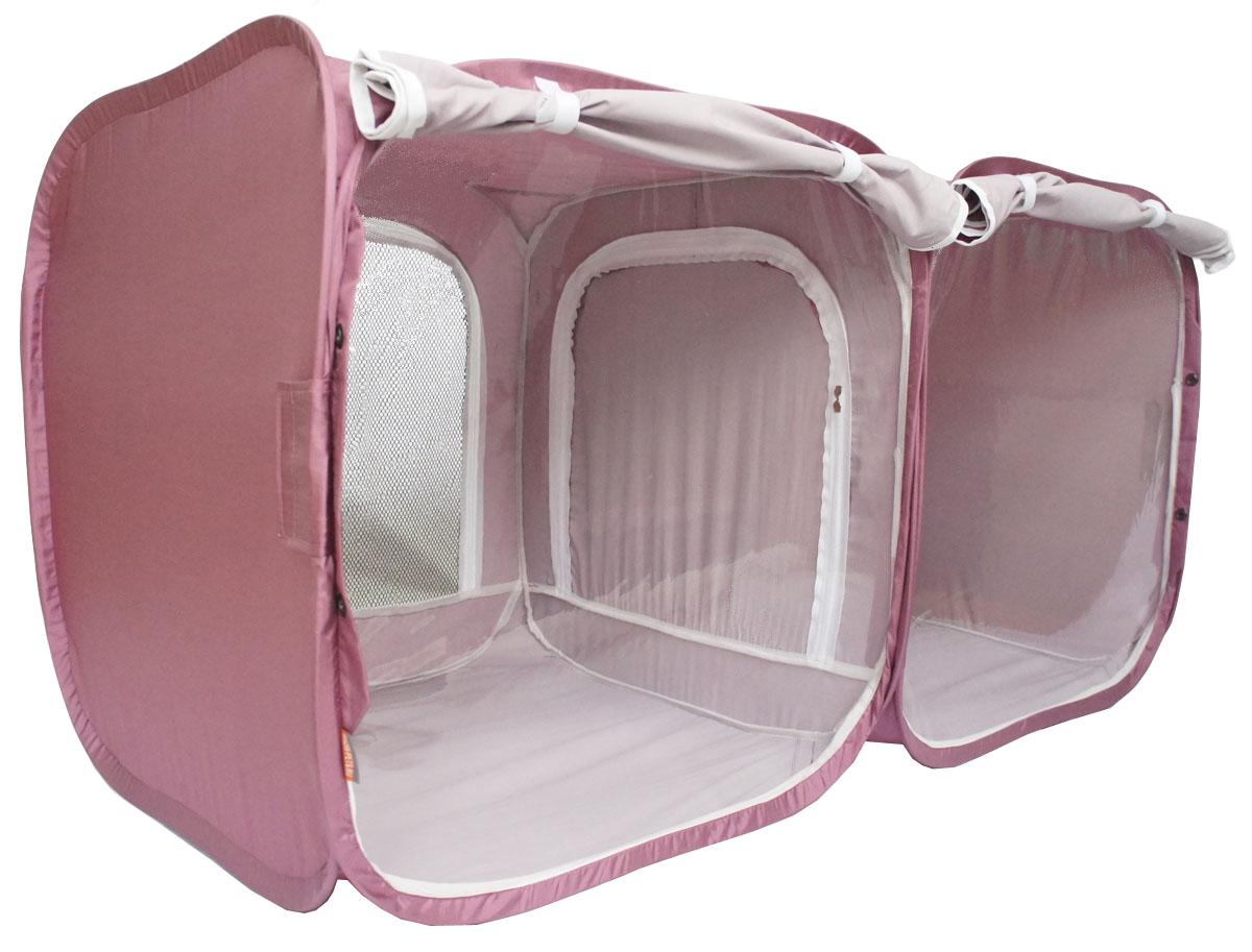 Палатка для выставки животных  Шоу-Петс , цвет: бордовый, 120 х 60 х 60 см. ПВЛ2Б