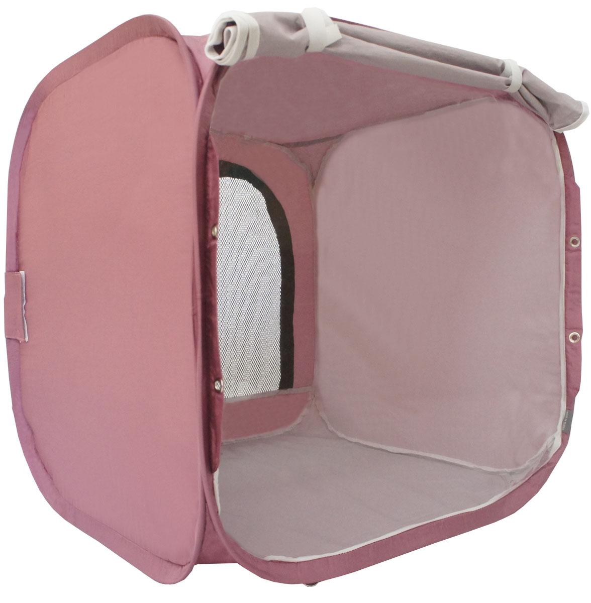 Палатка для выставки животных Шоу-Петс, цвет: бордовый, 60 х 60 х 60 см. ПВЛ1Б0120710Палатка Шоу-Петс разработана профессиональными заводчиками для тех, кто хочет перемещаться и выставляться со своими питомцами легко и комфортно.Палатка разворачивается и сворачивается за 30 секунд. Экран палатки выполнен из суперпрозрачной пленки, шторка по желанию может опускаться и полностью закрывать экран от взглядов посетителей выставки.Палатка сворачивается восьмеркой в компактный блинчик и убирается в компрессионный чехол (в комплекте).Также в комплекте к палатке предусмотрены ремни для крепления к столу, ими удобно фиксировать палатку в поезде на верхней полке или в машине.Со стороны заводчика расположен большой удобный вход в палатку на молнии, бегунки молнии фиксируются крепежом, не позволяющим животному самостоятельно открыть вход и выбраться из палатки.В скрученном виде палатка практически не занимает места в багаже и не ощущается по весу. Данный размер палатки предназначен для комфортного размещения на выставке одного животного среднего размера.Материал палатки очень прочный и устойчивый на разрыв.