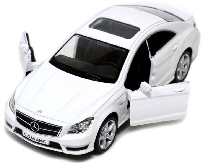 Pitstop Машинка инерционная Mercedes-Benz CLS 63 AMG C218 цвет белый larsen лента гимнастическая a227 2